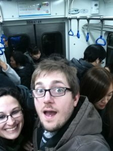 This was our first Korean subway experience!