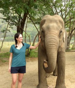 Here I am with one of the elephants!