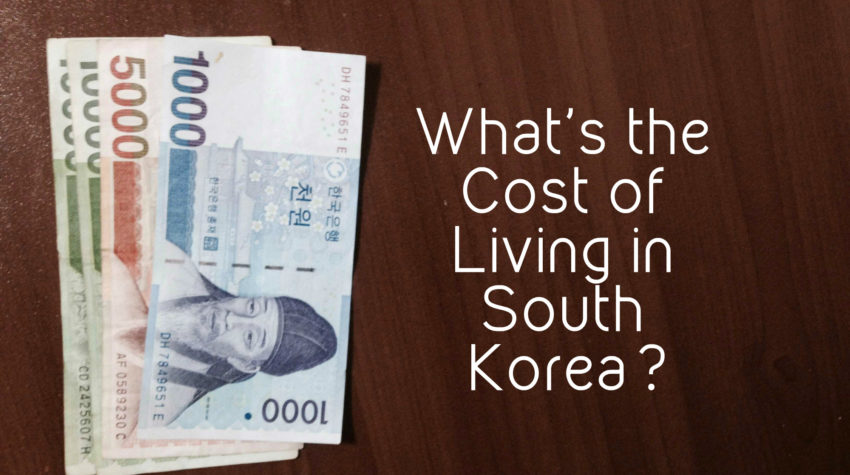 Cost of living in South Korea