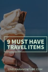 9 Must Have Travel Items! #travel #traveltips #vacation #travelblog