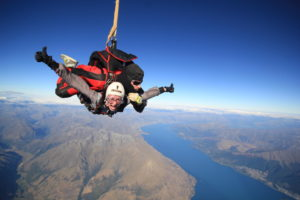 Skydiving in Queenstown, NZ