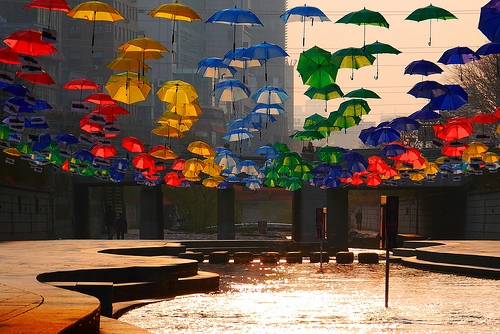 Cheonggyecheon Umbrellas