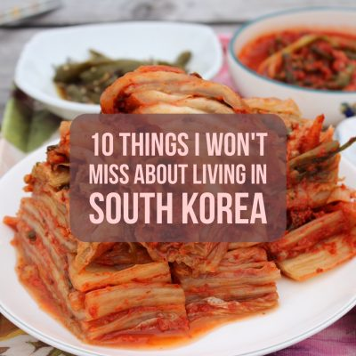 things I won't miss about living in South Korea